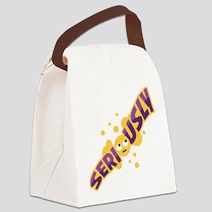 Emoji Seriously Canvas Lunch Bag
