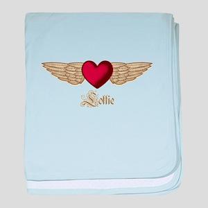 Lottie the Angel baby blanket