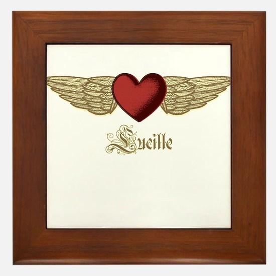 Lucille the Angel Framed Tile