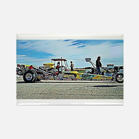 Team Crank Racing dragster Rectangle Magnet