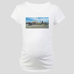 Team Crank Racing dragster Maternity T-Shirt