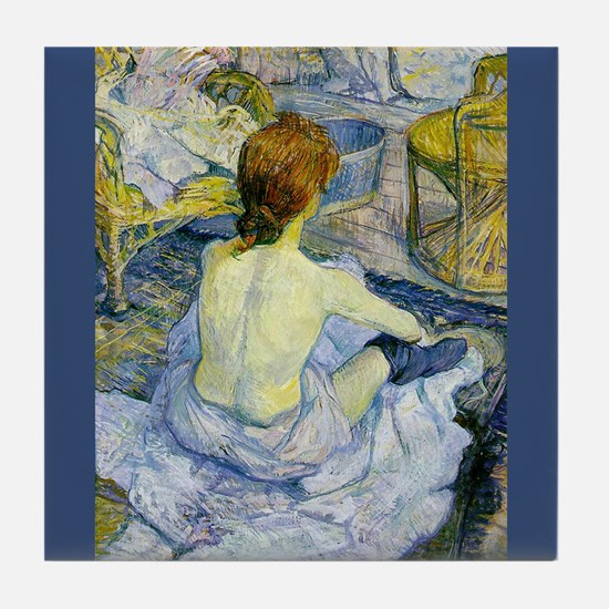 Toulouse-Lautrec La Toilette Art Tile Coaster