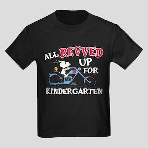 Peanuts First Day of Kindergarte Kids Dark T-Shirt