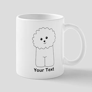 Bichon Frise Dog. Custom Text. Mug