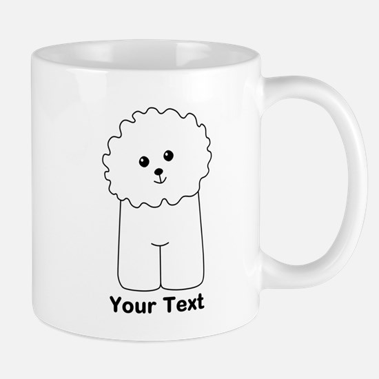 Bichon Frise Dog. Custom Text. Mug