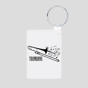 Trombone swirls Keychains