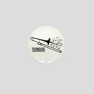 Trombone swirls Mini Button