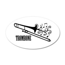 Trombone swirls Wall Decal