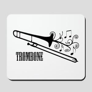 Trombone swirls Mousepad