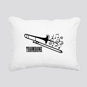 Trombone swirls Rectangular Canvas Pillow