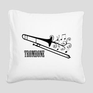 Trombone swirls Square Canvas Pillow