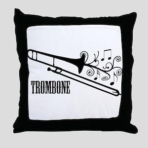 Trombone swirls Throw Pillow
