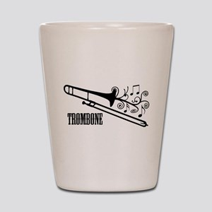 Trombone swirls Shot Glass