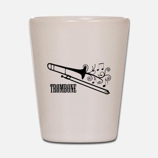Trombone swirls Shot Glass