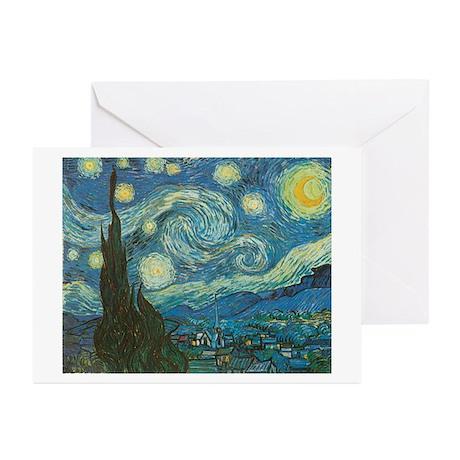 Starry Night van Gogh Greeting Cards (Pk of 20)