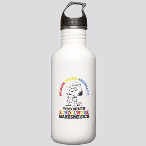 Snoopy Reading Writing Water Bottle