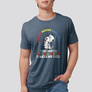 Snoopy Reading Writing Mens Tri-blend T-Shirt