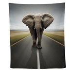 Elephant Trucker Wall Tapestry