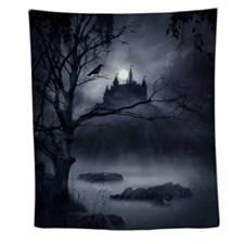 Gothic Night Fantasy Wall Tapestry
