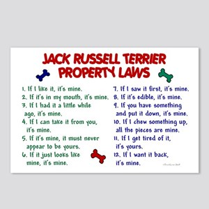 Jack Russell Terrier Property Laws Postcards (Pack