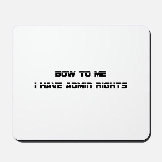 Admin Rights Mousepad