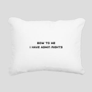 Admin Rights Rectangular Canvas Pillow