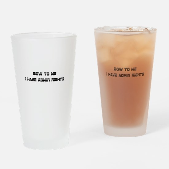 Admin Rights Drinking Glass