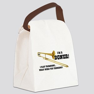 Funny Trombone Canvas Lunch Bag