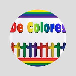 """De Colores Marching Crosses 3.5"""" Button"""