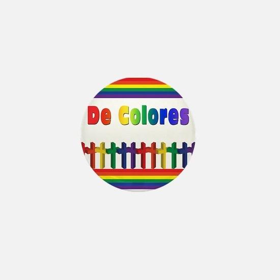 De Colores Marching Crosses Mini Button