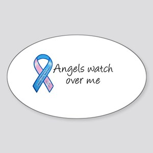 Angels watch over me Oval Sticker