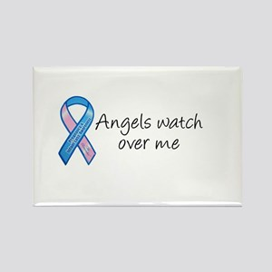 Angels watch over me Rectangle Magnet
