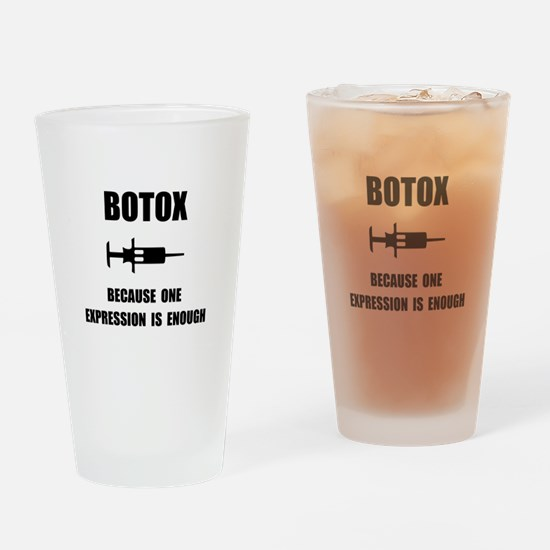Botox Expression Drinking Glass