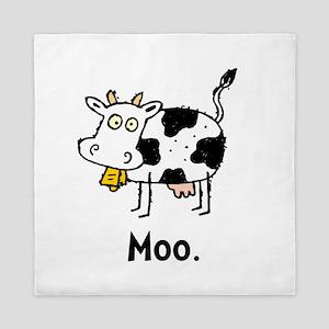 Cartoon Cow Moo Queen Duvet