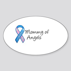 Mommy of Angels Oval Sticker