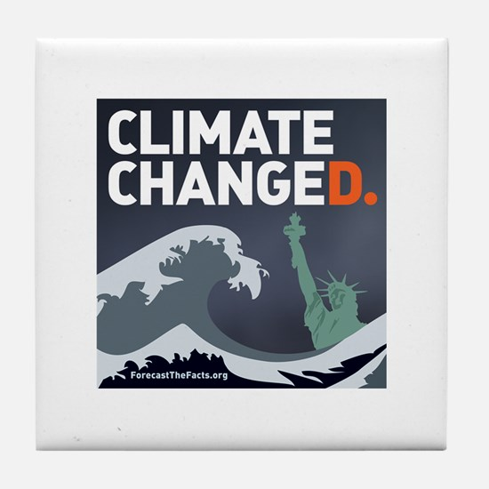 Climate ChangeD Tile Coaster