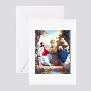 Jesus at the Well Greeting Cards (Pk of 10)