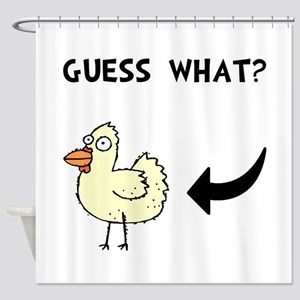 Chicken Butt Shower Curtain