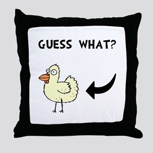 Chicken Butt Throw Pillow