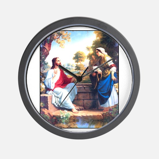 Jesus at the Well Wall Clock