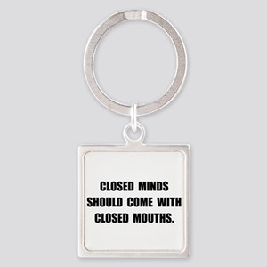 Closed Minds Square Keychain