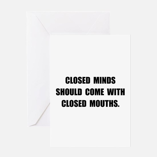 Closed Minds Greeting Card