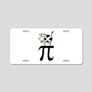 Cow Pi Aluminum License Plate