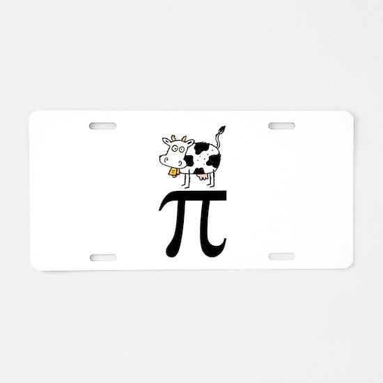 Cow Pi Aluminum License Plate