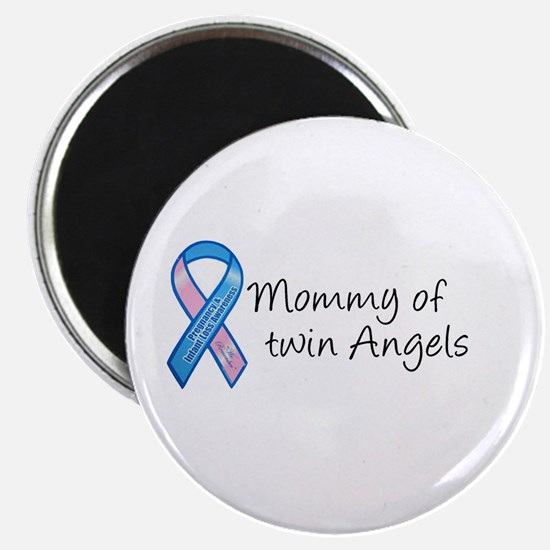 """Mommy of Twin Angels 2.25"""" Magnet (100 pack)"""