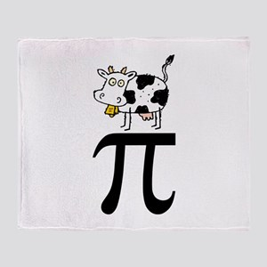 Cow Pi Throw Blanket