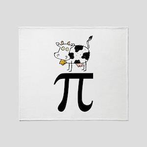 Cow Pi Throw Blanket