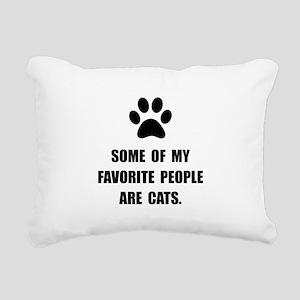 Favorite People Cats Rectangular Canvas Pillow