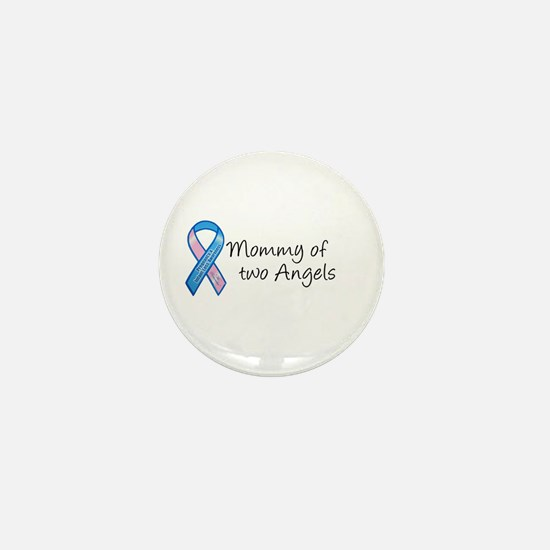 Mommy of Two Angels Mini Button