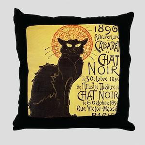 Chat Noir Cat Throw Pillow